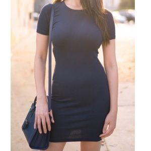 Everlane Blue Dress Ribbed Sport Pima CottonFitted
